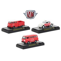 """""""Coca-Cola"""" Release 4, Set of 3 Cars Limited Edition to 4,800 pieces Hobby Exclusive 1/64 Diecast Models by M2 Machines"""