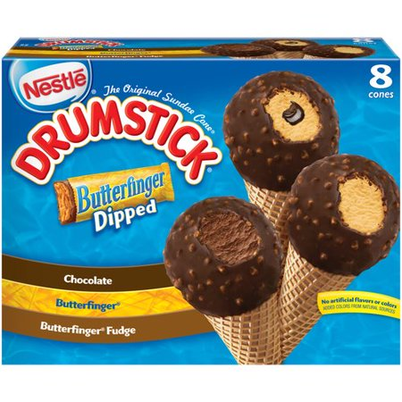 Nestle Drumstick Butterfinger Dipped Ice Cream Cones Variety Pack 8 Ct 368 Fl Oz