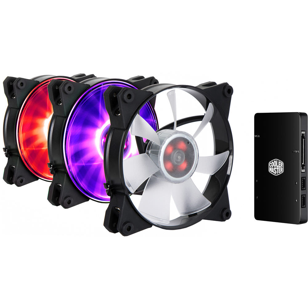 Cooler Master MasterFan Pro 140 Air Pressure RGB 3-in-1 with RGB LED Controller