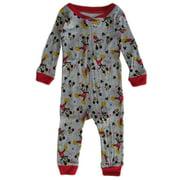 Disney Grey Mickey Mouse Long Sleeve Pajama Jumper Baby Boys