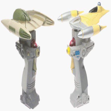star wars episode 1 naboo and droid fighter battle tiger electronics dogfighting Star Wars Naboo Fighter
