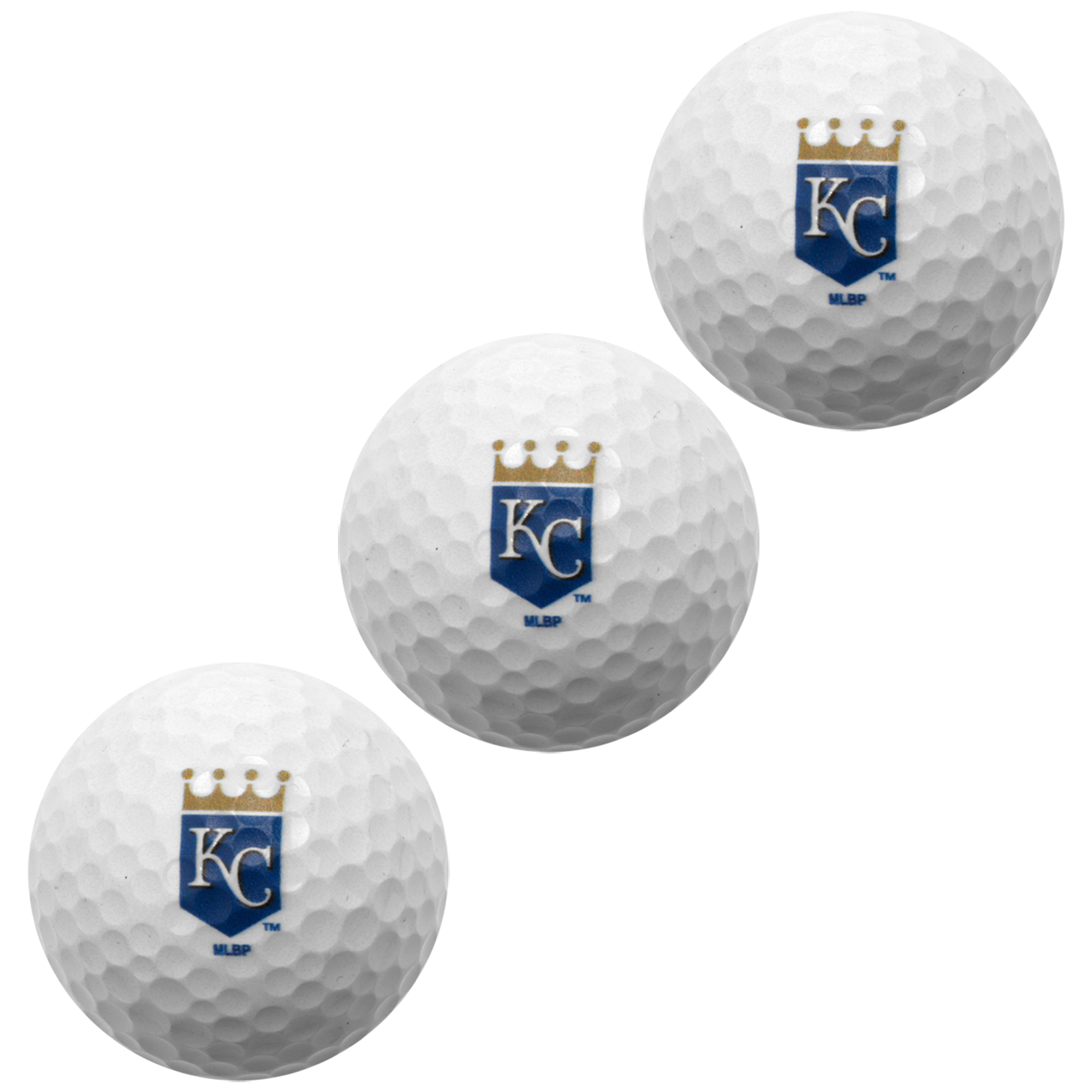 Kansas City Royals Pack of 3 Golf Balls - No Size
