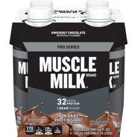 Muscle Milk Pro Series Protein Shake, 32g Protein, Knockout Chocolate, 11 Fl Oz, 4 Count