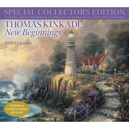 Thomas Kinkade Special Collector's Edition 2020 Deluxe Wall Calendar : New (Thomas Kinkade Paintings Gone With The Wind)