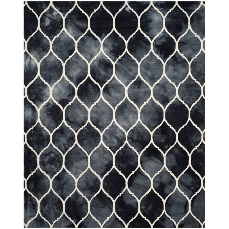 Safavieh Dip Dye 8' X 10' Hand Tufted Rug in Graphite and Ivory - image 3 of 10