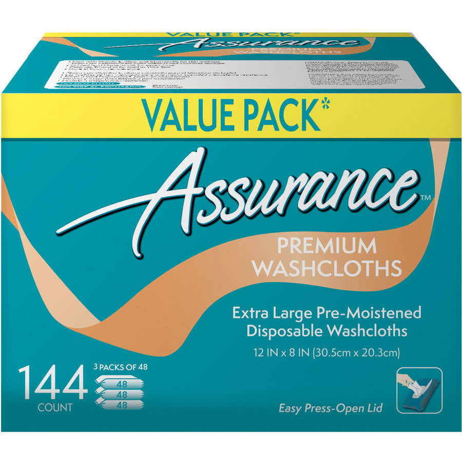 Assurance Premium Washcloths, Extra Large, 144 count by Wal-Mart Stores, Inc.