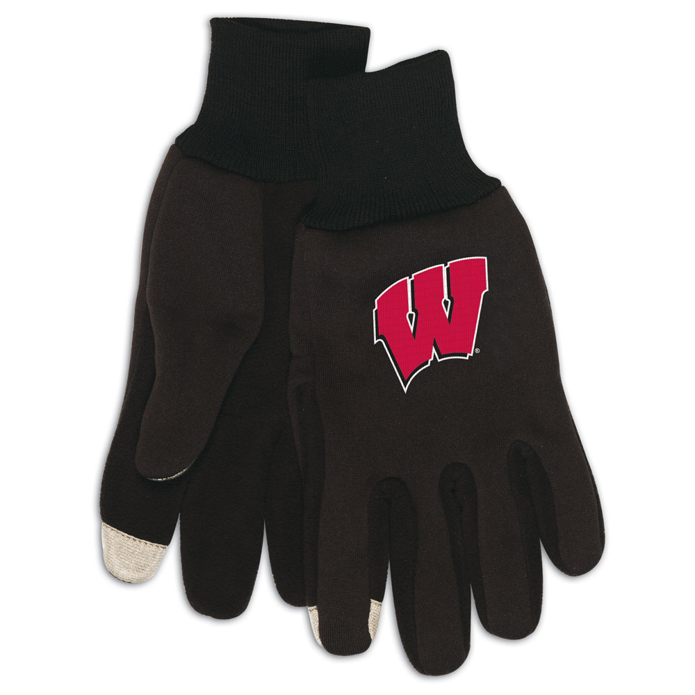 Wisconsin Badgers NCAA Technology Gloves (Pair)