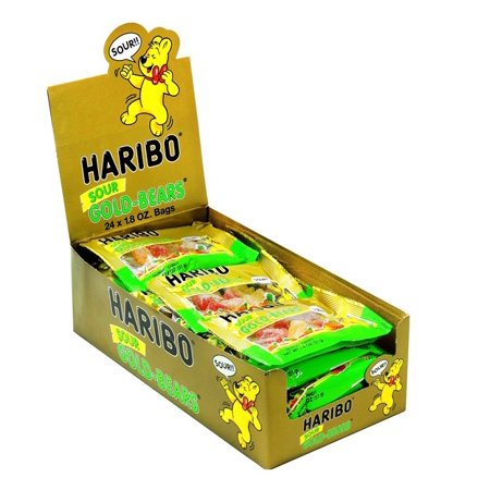 Product Of Haribo, Gold Bears Sour Gummi Candy, Ct 24 (1.8 Oz ) - Sugar Candy / Grab Varieties & Flavors](Haribo Gummi Bears)