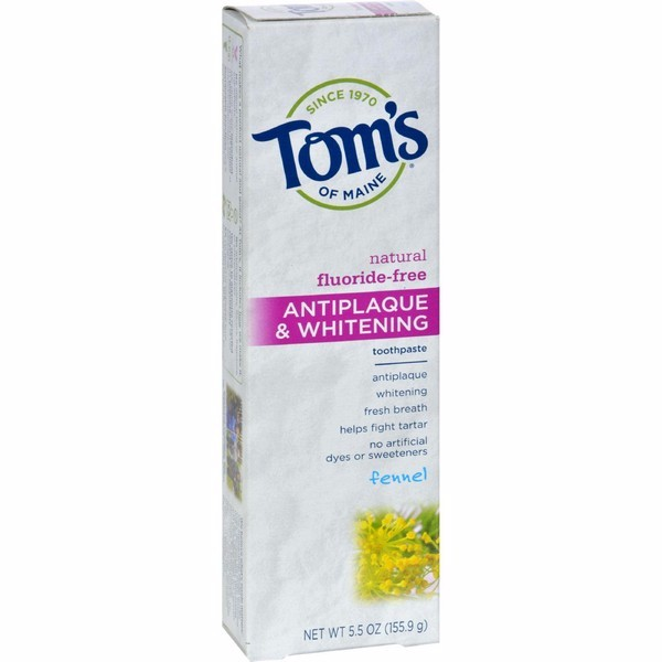 Tom's Of Maine Antiplaque And Whitening Toothpaste Fennel - 5.5 Oz - pack of 6 - image 1 de 1
