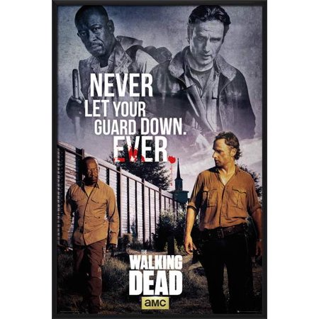 The Walking Dead - Framed TV Show Poster / Print (Rick & Morgan - Never Let Your Guard Down. EVER) (Size: 24