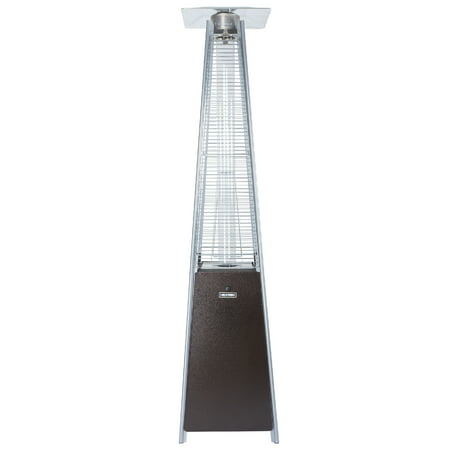 HEXAGO 40,000 BTU Pyramid Commercial Outdoor Patio Heater, Adjustable Portable Liquid Propane Gas Floorstanding Heater with Wheels, ETL Listed