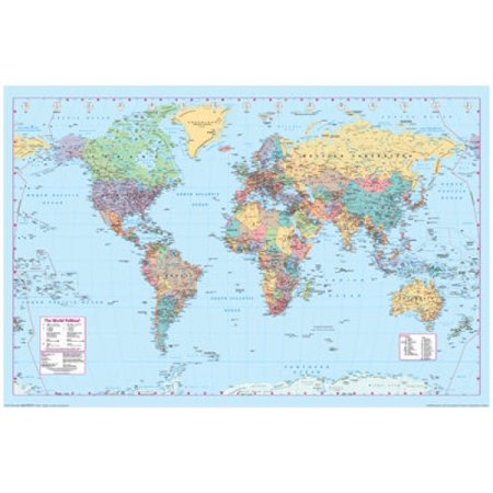 Maps - World Map 2 Poster Poster - Two Maps