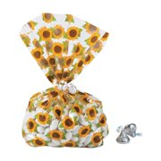 Sunflower Cellophane Bags - Party Supplies - 12 Pieces