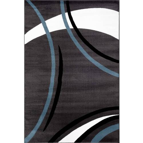 World Rug Gallery Contemporary Modern Wavy Circles Area Rug