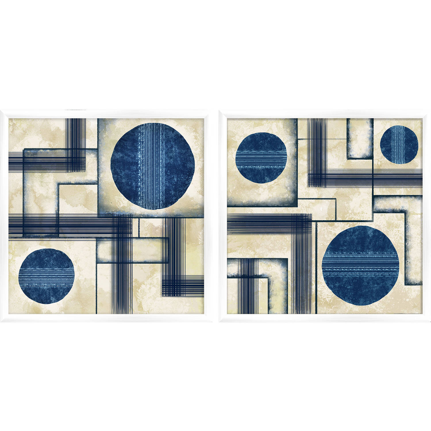 """Transitional Lines 17.375"""" x 17.375"""" Wall Art"""