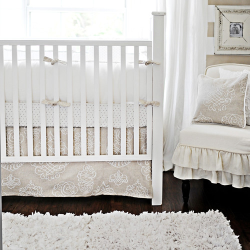 New Arrivals Pebble Moon 2 Piece Crib Bedding Set