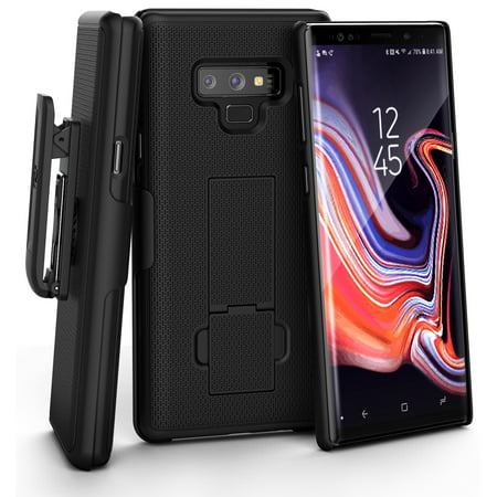 Encased Galaxy Note 9 Belt Case, DuraClip Series Slim Fit Holster Shell Combo with Holster Clip and Rubberized Grip Fini