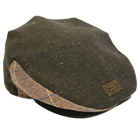 Green Tweed Celtic Knot Flat Cap