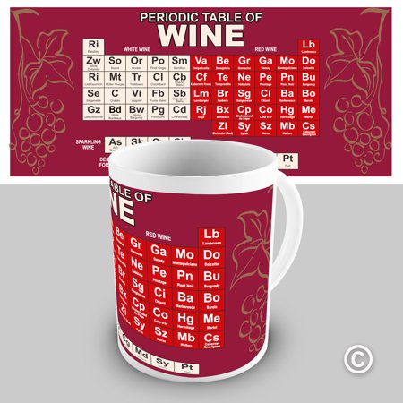 Periodic Table Of Wine Funny Mugs For Dad 15 Oz Walmart