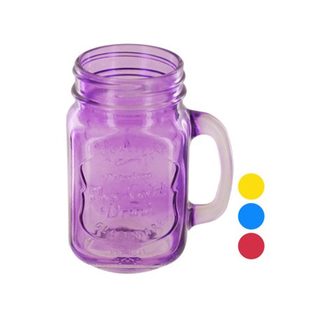 Colored Jars - Vintage Style Colored Mason Drinking Jar (Pack Of 16)