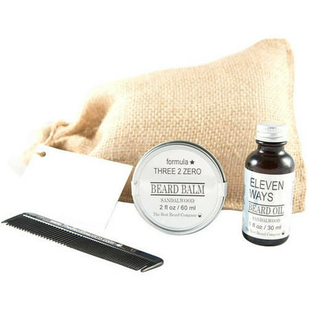 the best beard company sandalwood premium grooming traveling duo kit 4 pc. Black Bedroom Furniture Sets. Home Design Ideas
