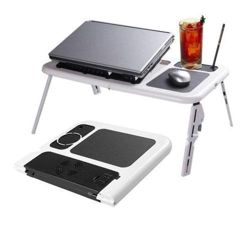 Ergonomic Portable Foldable Laptop Computer Table Tray Desk With Cooling Fan