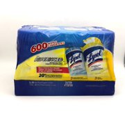 Lysol 3 Citrus & 3 Spring Waterfall 100 Count Disinfecting Wipes