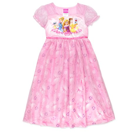 Disney Princess Girls Fantasy Nightgown Pajamas 21DP324GGS - Disney Princess Dressing Gowns
