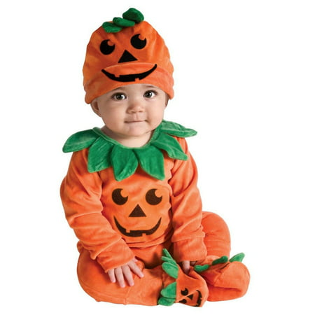 Halloween Lil' Pumpkin Infant Costume - 0-3 Month Pumpkin Halloween Costumes