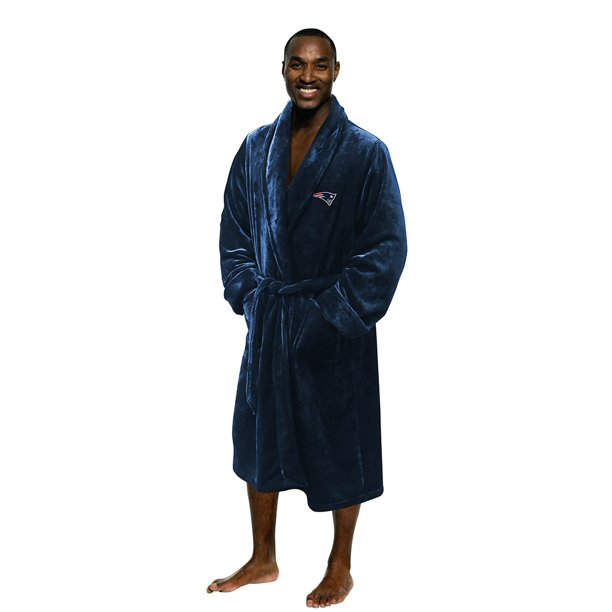 New England Patriots The Northwest Company Silk Touch Robe - Navy - L/XL