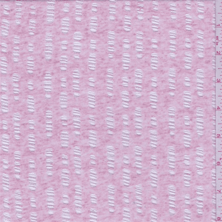 Heather Pink Burnout Jersey Knit, Fabric Sold By the Yard (Burnout Fabric)