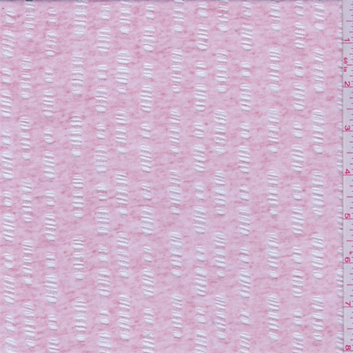 Heather Pink Burnout Jersey Knit, Fabric By the Yard