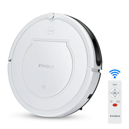 Robot Vacuum - Eyugle Robotic Vacuum Cleaner and Mop Automatic Recharging, Super Power Suction, Slim Design, Remote Control, Anti-Drop, HEPA Filter Good for For Pet Hair, Carpet & Hard Floor