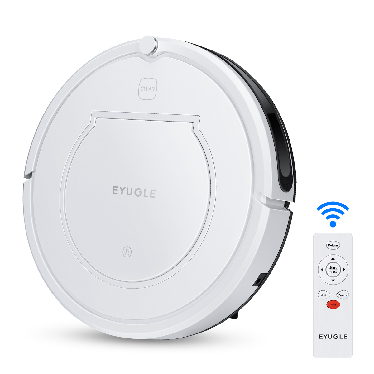 Eyugle KK320A1N Robotic Vacuum Cleaner 900Pa Powerful Suction Quiet Self-Charging With Connected Gyroscope Navigation HEPA Filter For Hair Hard Floors