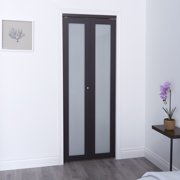 Euro Closet And Room Divider Door Espresso 1 Lite Bifold Closet Door