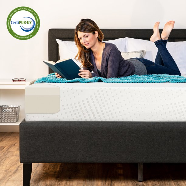 "Best Choice Products 10"" Dual Layered Medium-Firm Memory Foam Mattress w/ Open-Cell Cooling, CertiPUR-US Certified Foam, Removable Cover, Full"
