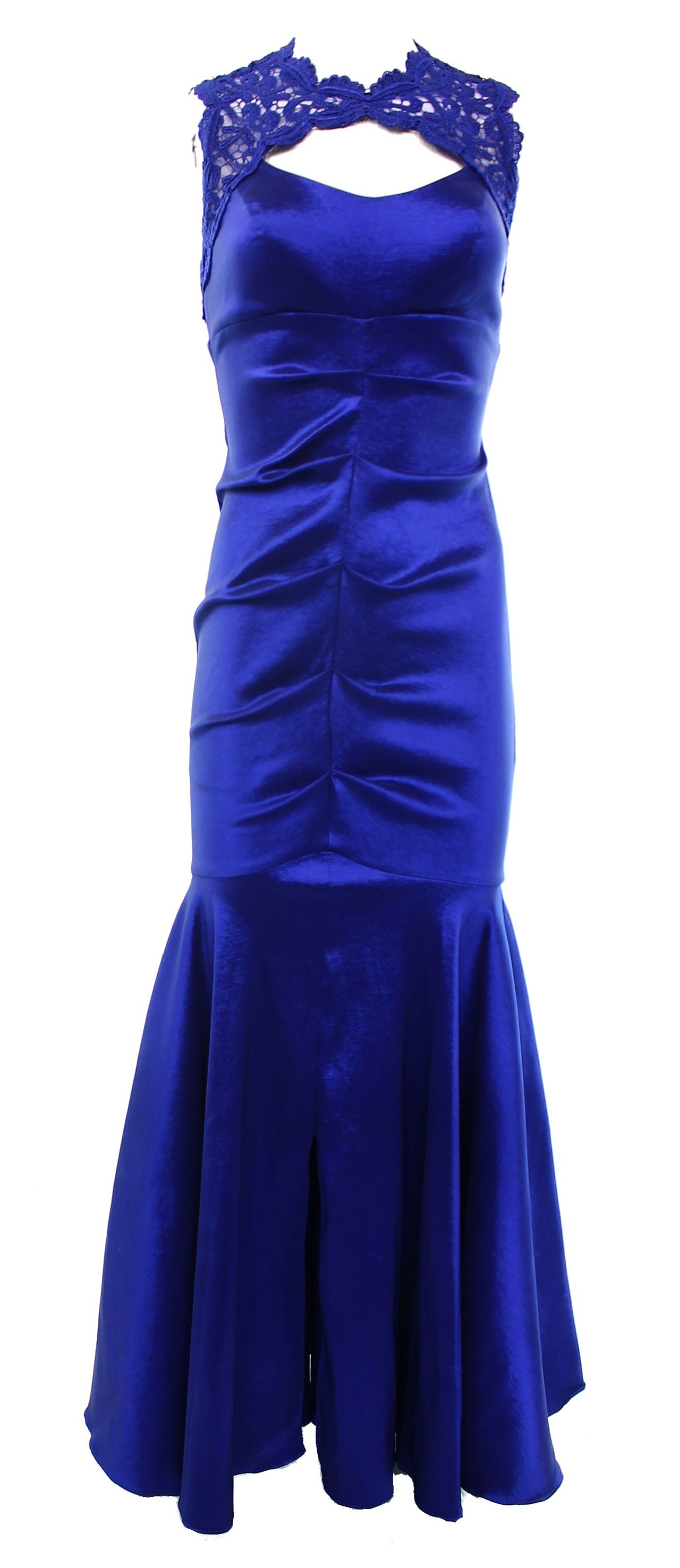 Xscape NEW Women\'s Size 12 Royal Blue Lace Yoke Bodycon Mermaid Gown ...