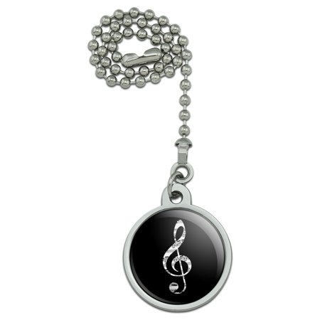 Sheet Music Treble Clef Music Ceiling Fan and Light Pull Chain