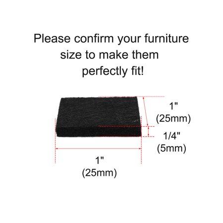 "Furniture Felt Pad Square 1"" Anti-scratch for Furniture Cabinet Black 100pcs - image 5 de 7"