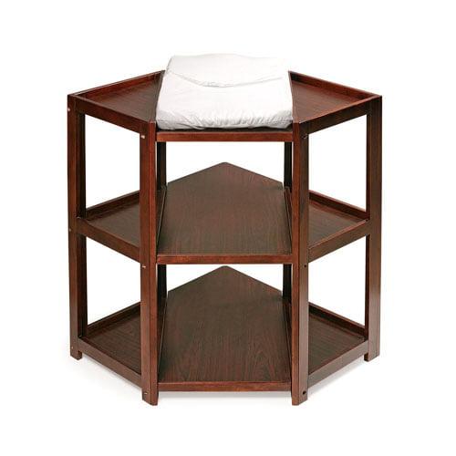 Badger Basket Diaper Corner Changing Table, Cherry