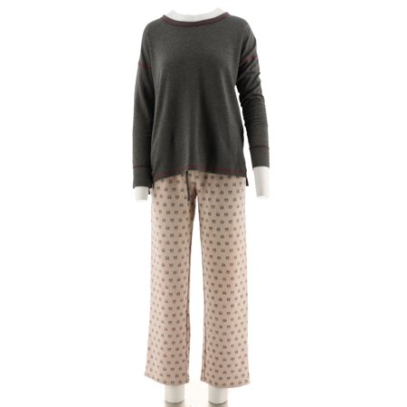 Cuddl Duds Comfortwear French Terry Pajama Set