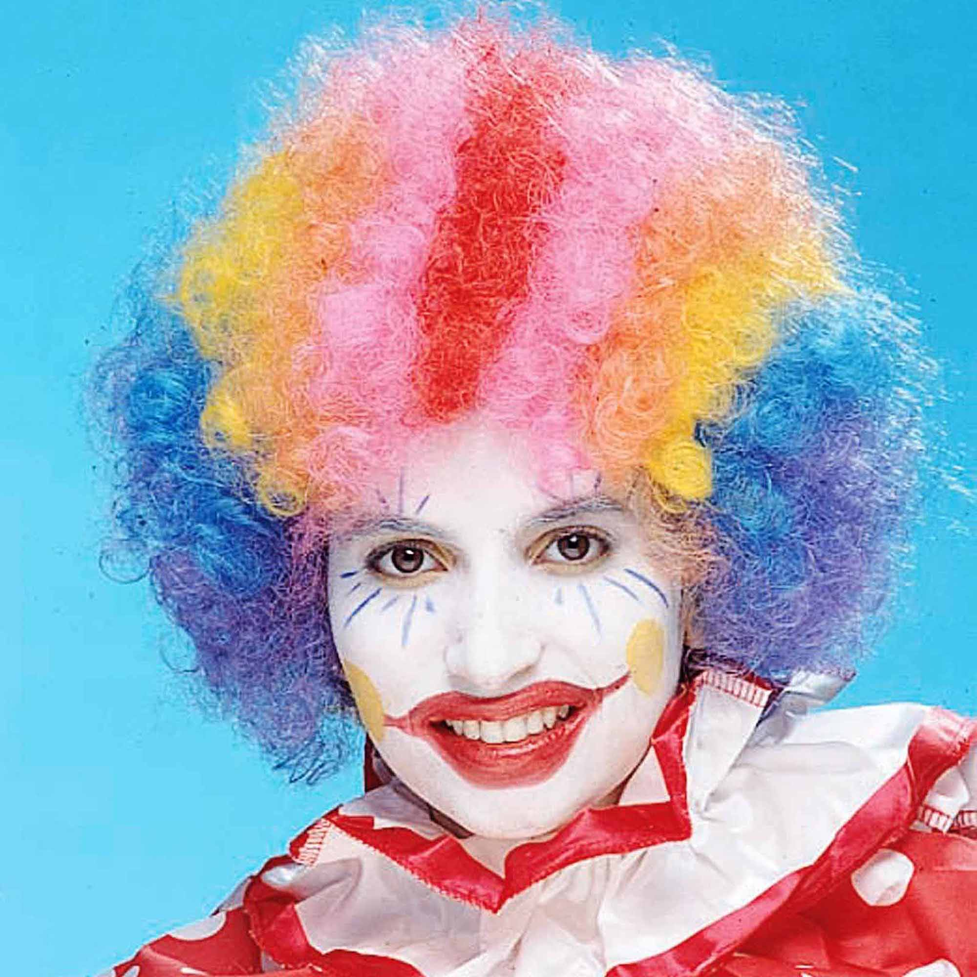 Rainbow Economy Clown Wig Adult Halloween Costume Accessory
