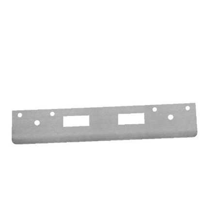 12 in. Full Lip High Security Strike with 4 in. CTC Latch Holes, Brass (Lip Strike Plates Solid Brass)