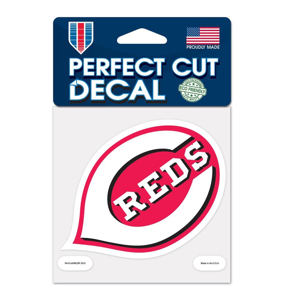 Cincinnati Reds 4x4 Perfect-Cut Car Auto Decal Sticker
