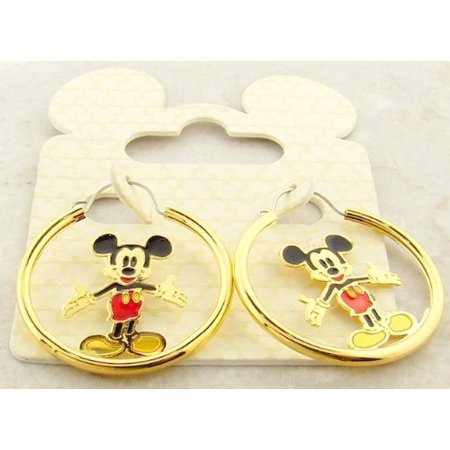 Disney Disney Officially Licensed Mickey Mouse Gold Hoop Earrings