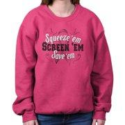 Squeeze Em Screen Save Breast Cancer Awareness Shirt | Pink Sweatshirt