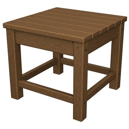Poly Wood Club 18 Side Table Square Top Four Leg Base 4 Legs Width X Depth 16 Height Embly Required