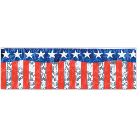Stars and Stripes Fringe Banner Halloween Decoration