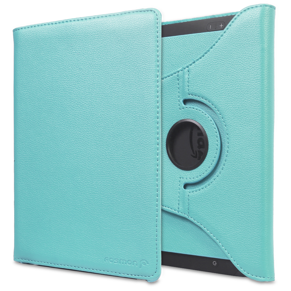 "Fosmon GYRE Revolving Leather Case Cover for Kindle Fire HDX 8.9"" - Sky Blue"