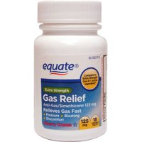 Equate Extra Strength Gas Relief Simethicone Chewable Cherry Crème Tablets, 125 mg, 18 Ct